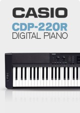 CASIO CDP-220R Digitale Piano Deluxe Pakket