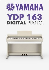 Yamaha YDP-163 Digitale Piano, Wit Essenhout