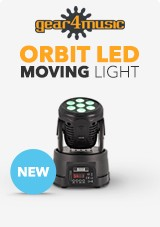 ORBIT 70W LED Moving Head Licht van Gear4music